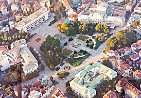 Aerial view of Freedom Square